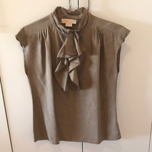 Michael Kors sleeveless blouse with ruffles